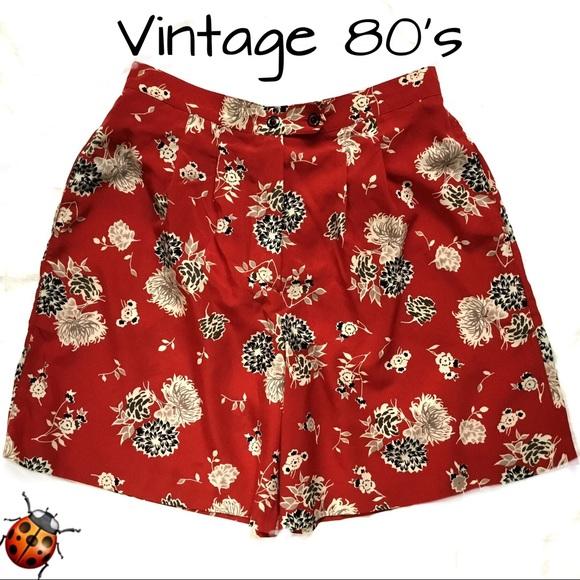 Vintage Pants - Vintage 80's Marcia Microfiber Shorts Dressy Sz 10
